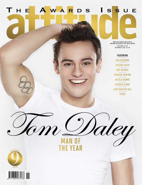 Tom Daley, portada de la revista 'Attitude'